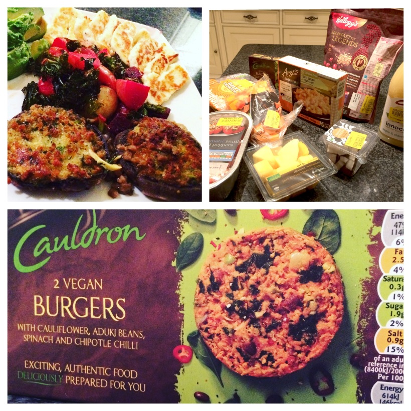 Vegan Burgers, Halloumi, Stuffed Mushrooms & low cost vegetarian shopping!