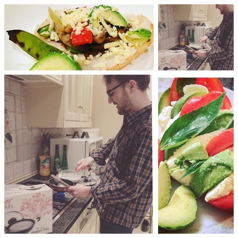 Sri Lankan Hoppers and Caprese Salad