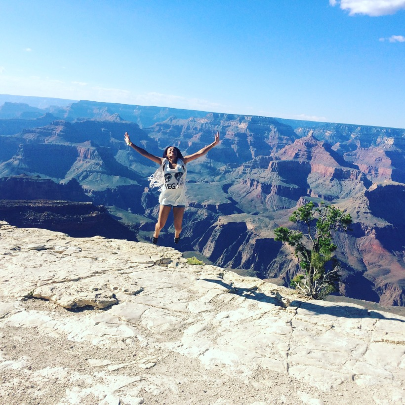 Jumping for Joy at the Grand Canyon