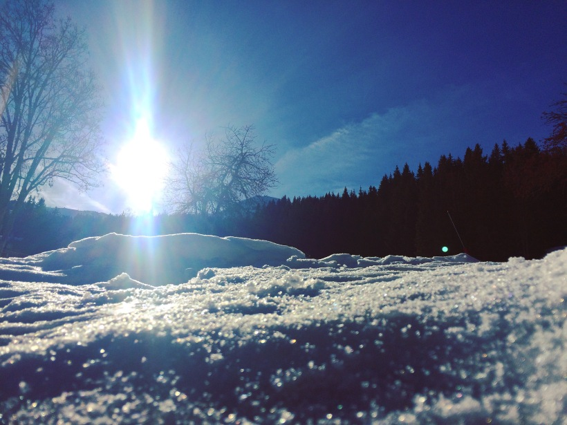 The sun shines even in the coldest places.