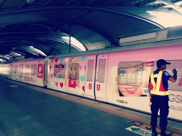 barbie train