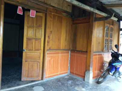 The front door and veranda