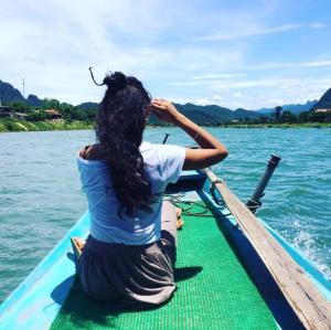 Phong Nha edge of boat