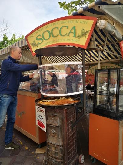 Socca, Nice, France